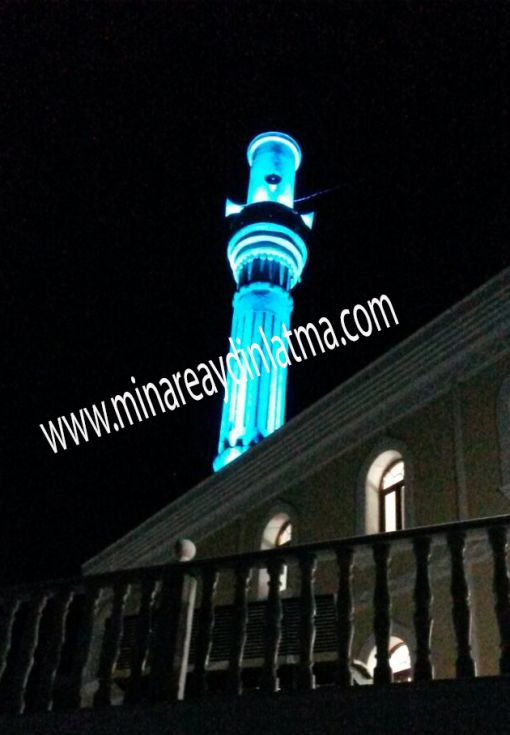 bulgaristan camii minare aydınlatma