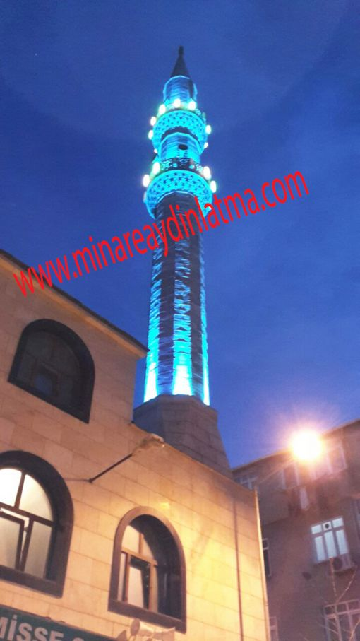 köşeli minare aydınaltma