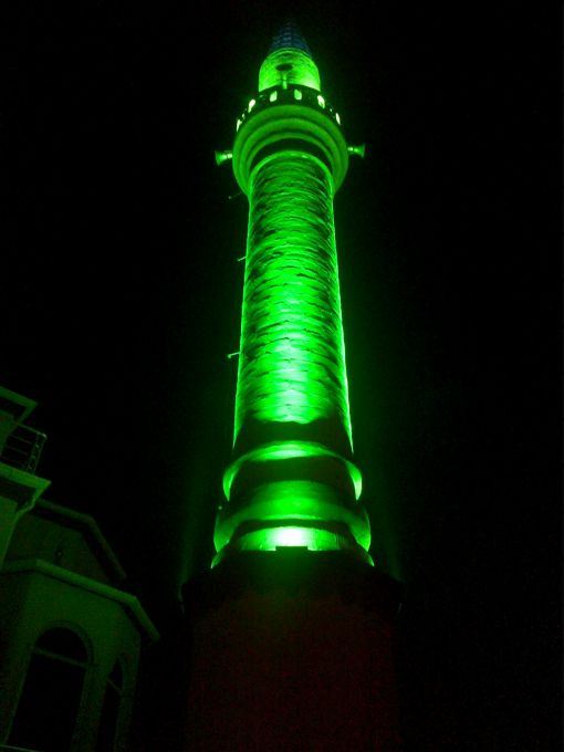 minare kubbe aydınlatma